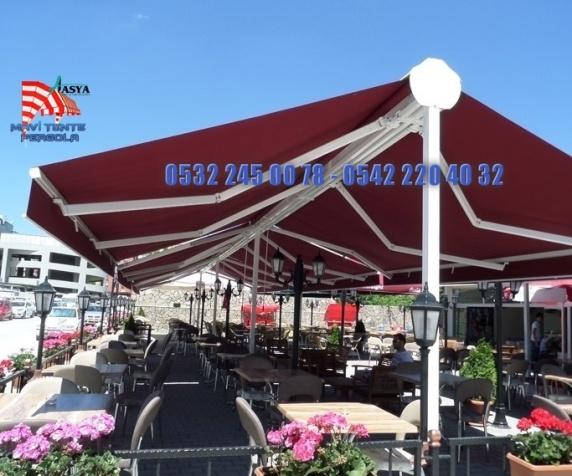 Kamelya Mafsallı Tente, Mavi, pergola tente, 05322450078