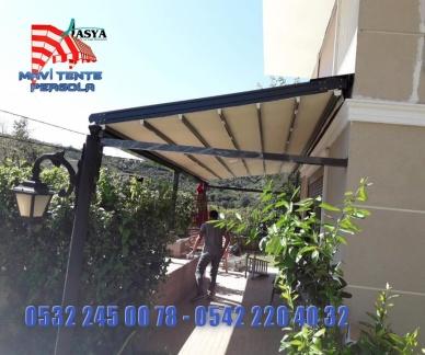 Mavi pergola tente ,Extra dünya, Extra mekan, pergola, tente, 0532 245 00 78,