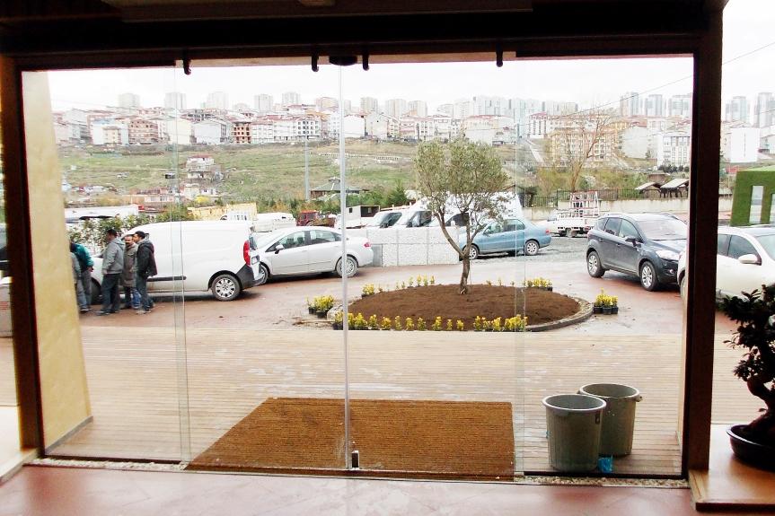 Mavi, pergola tente, 05322450078, Katlanır Cam