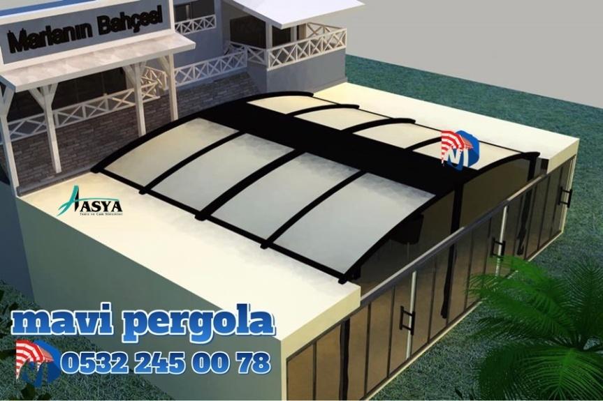 Oval Pergola Sistemi, Mavi, pergola tente,05322450078