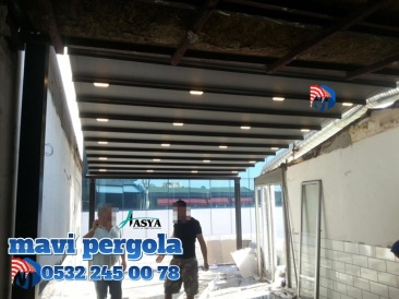 Giyotinli cam sistemi, VİDEO, motorlu ve uzaktan kumandalı, Mavi, pergola tente , 05322450078