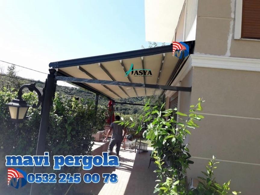 Mavi, pergola tente, Extra dünya, Extra mekan, pergola, tente,05322450078